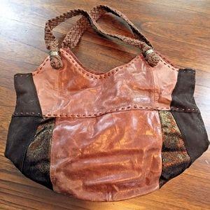 The Sak Indio Teak Leather Suede Copper Purse